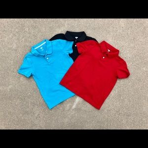 Lot of 3 Old Navy Boys Pique Polo Shirts Size 8